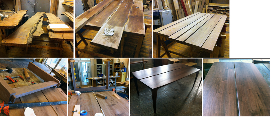 """Making a walnut dining table"""