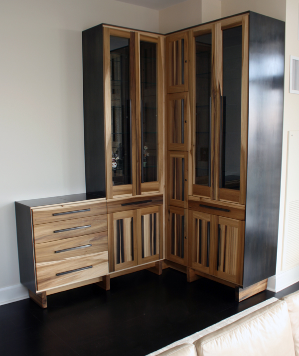 """""""Bar cabinet""""  """"Cabinet with Blackened Steel"""""""