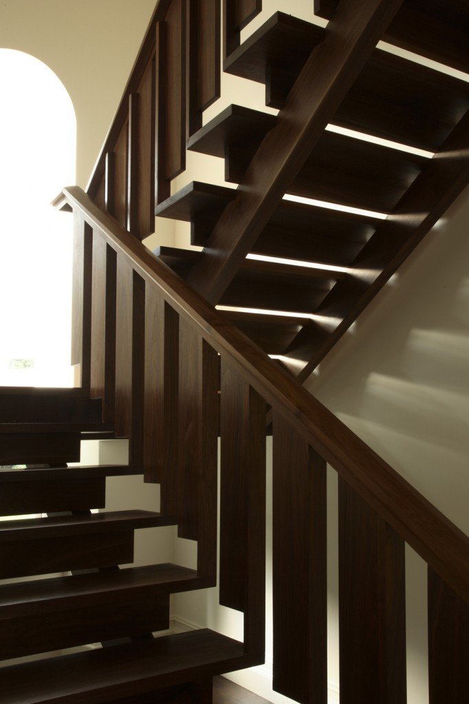 Black Walnut Modern Staircase