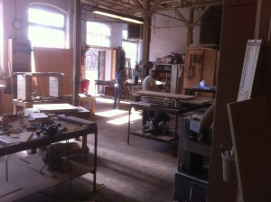 The new Easthampton workshop in full use.