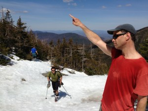 Near the top of Mt. Washington, after a long slog.