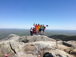 My son and his friends atop Mt. Monadnock