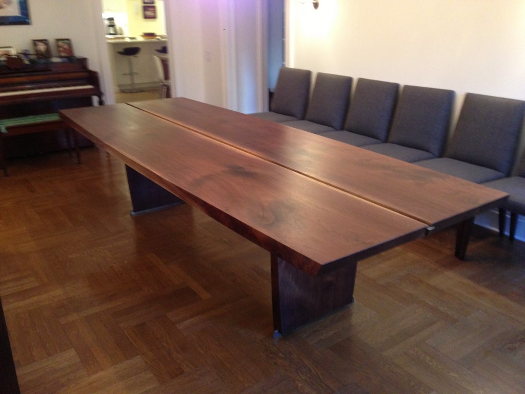 Bookmatched Black Walnut Table