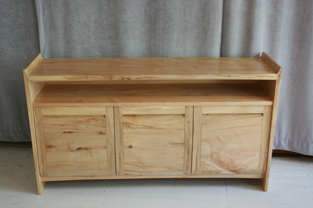 A sideboard in Ambrosia Maple for Sunderland, MA.